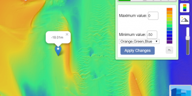 Bathymetry Viewer with Depth